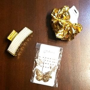 🆕️Gold hair accessories bundle